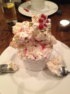 Half way down the Eton Mess Tower